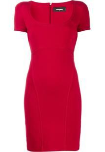 Dsquared2 Vestido Com Detalhe Decorativo - Vermelho