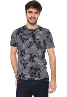Camiseta Malwee Floral Azul-Marinho