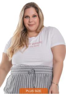 T-Shirt Feminina Enjoy Branco