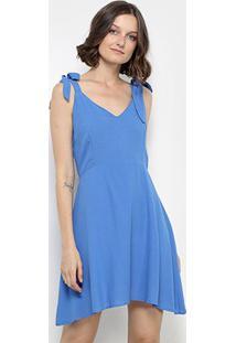 Vestido Acrobat Com Alça Laço Feminina - Feminino-Azul