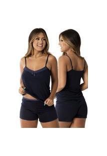 Baby Doll Vivi Pijama Conforto Azul Marinho