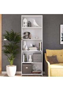 Estante Para Livros 5 Prateleiras Mo060 Branco - Art In Móveis