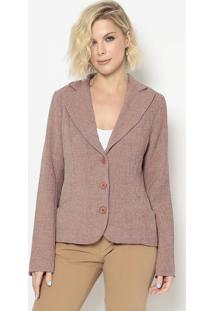 Blazer Texturizado- Rosa- Cotton Colors Extracotton Colors Extra