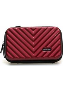 Mini Bag Bolsa Tictactoo Transversal Pochete Feminina - Feminino-Vinho