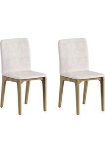 Conjunto Com 2 Cadeiras Marina Avelã E Palha