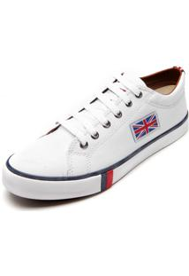 Sapatênis England Leeds Bandeira Branco