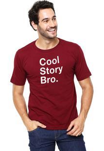 Camiseta Rgx Cool Story Bro Bordô