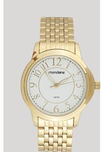 Relógio Analógico Mondaine Feminino - 83337Lpmvde2 Dourado - Único