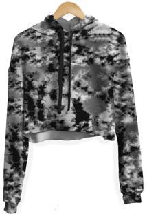Blusa Cropped Moletom Feminino Camuflado Tie Dye Md14 - Kanui