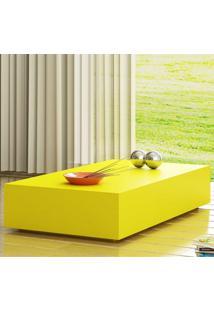 Mesa De Centro Retangular Uvim Amarelo