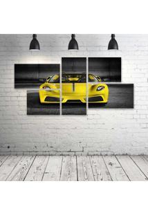 Quadro Decorativo - Ferrari-Scuderia-Spider-M- Composto De 5 Quadros - Multicolorido - Dafiti