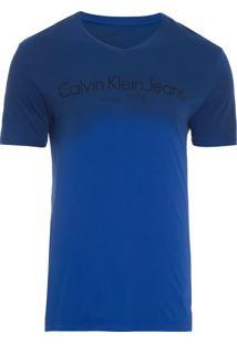 Camiseta Masculina Logo Degradê - Azul