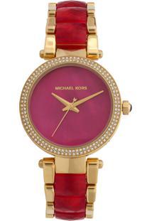 Relógio Michael Kors Mk6490/5Tn Rosa/Dourado