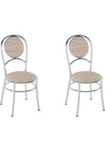 Kit 2 Cadeiras Pc03 Assento Amadeirado Caramelo - Pozza