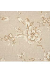 Papel De Parede Goteborg Floral- Marrom Claro & Bege Escedantex