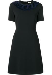 Fendi Vestido Com Aplicação - Preto