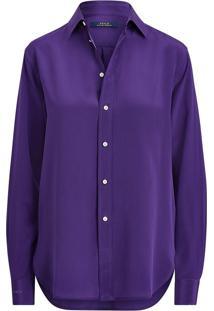Camisa Polo Ralph Lauren Reta Lisa Roxa