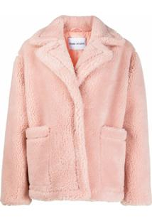 Stand Studio Oversized Shearling Jacket - Rosa