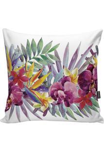 Capa Para Almofada Tropical- Rosa & Amarela- 45X45Cmstm Home