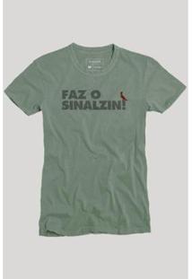 Camiseta Reserva Faz O Sinalzin Masculina - Masculino-Verde