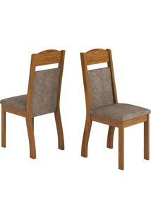 Cadeiras Kit 2 Cadeiras Selena 14110 Seda/Malta - Viero Móveis