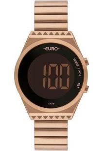 Relógio Euro Digital Fashion Fit Slim Eubjt016Ab/4J Feminino - Feminino-Rosê