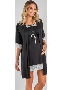 Robe Com Renda 280021 Brilho Da Seda