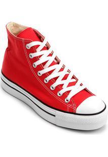 10a341ea75d ... Tênis Converse Chuck Taylor All Star Platform Hi - Feminino-Vermelho