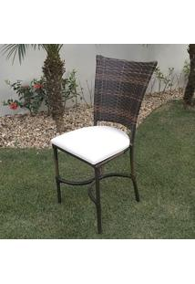 Cadeira Ibiza - Tecido Náutico Bege Relevo - Decora Na Net