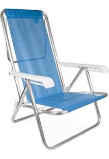 Cadeira Reclinável Alumínio 8 Posições - Unissex-Única