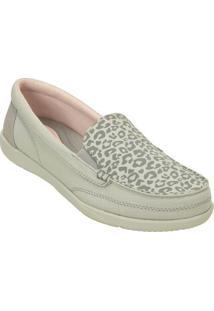 Sapatilha Walu Ii Leopard Print Loafer- Bege Claro & Cincrocs