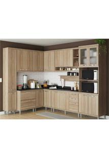 Cozinha Completa Multimóveis Com 10 Peças Sicília 5803 Argila/Argila