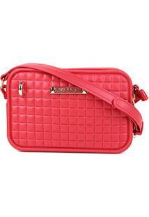 Bolsa Giulia Bardô Quadriculada Mini Bag Transversal Feminina - Feminino-Vermelho