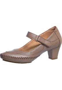 Sapato Feminino Salto Doctor Shoes 789 Bege