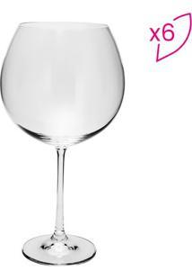 Jogo De Taças Para Vinho Twiggy- Cristal- 6Pçs- Rojemac