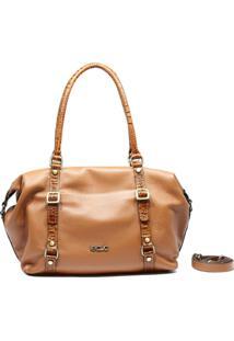 Bolsa De Couro Recuo Fashion Bag Sacola Caramelo