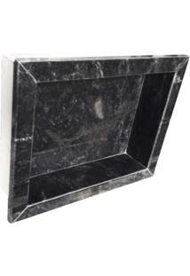 Nicho Rw Para Banheiro Granito Preto Comercial Com Borda A: 30Cm. X C: 40Cm.