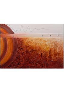 Quadro Abstrato Ii Uniart Vermelho 70X100Cm