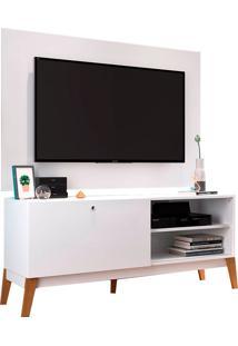 Rack Com Painel Para Tv De Até 49 ?0806P - Genialflex - Branco