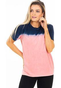 Camiseta Energia Natural Tie Dye - Unissex-Azul+Rosa