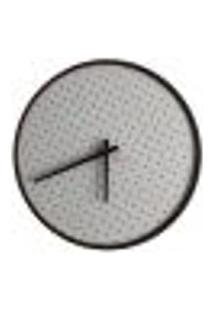 Relógio Round Marrom Mostrador Branco Perfurado 50 Cm