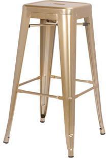 Banqueta Iron Tolix Dourado 77 Cm (Alt) - 44067 - Sun House