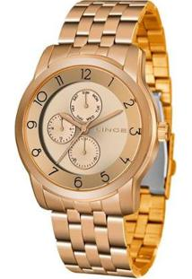 Relógio Lince Feminino Fashion Analógico Dourado Lmr4589L-R2Rx - Feminino-Dourado