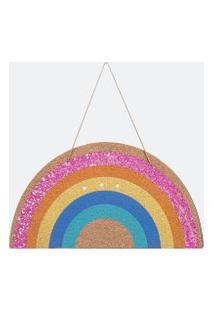 Quadro Decorativo Arco-Íris Com Glitter | Accessories | Multicores | U