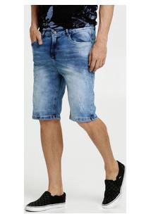 Bermuda Masculina Jeans Puídos