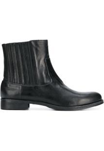 Twin-Set Ankle Boot De Couro - Preto