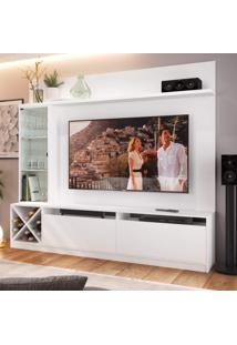 Estante Home Para Tv Até 60 Polegadas 1 Porta De Vidro Veneza Quiditá Branco