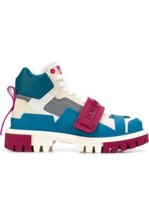 Dolce & Gabbana Bota De Caminhada Color Block - Branco