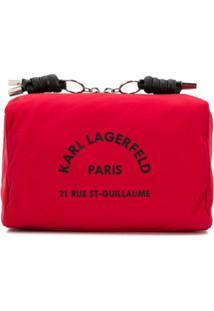Karl Lagerfeld Necessaire Com Logo Estampado - Vermelho