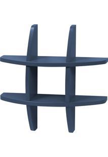 Prateleira Decorativa Pequena Taylor 600 Azul Noite - Maxima